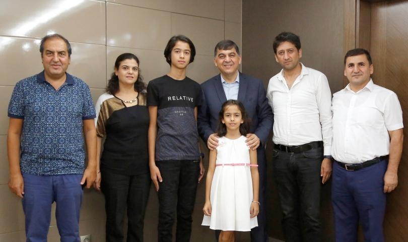 LGS Türkiye 1.'Si Berke'den Başkan Fadıloğlu'na Ziyaret