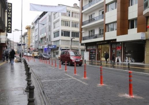 Karagöz'de parkomatlar kaldırıldı